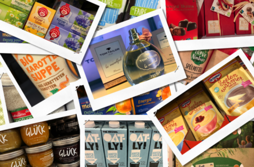 Collage von vegan_ökologisch_klimafreundlichen Waren vom Supermarkt