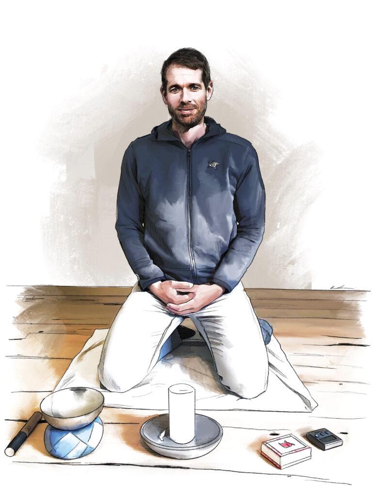 Beim Interview zum spirituellen Porträt erzählte der Unternehmer Bodo Janssen, dass er täglich meditiere.